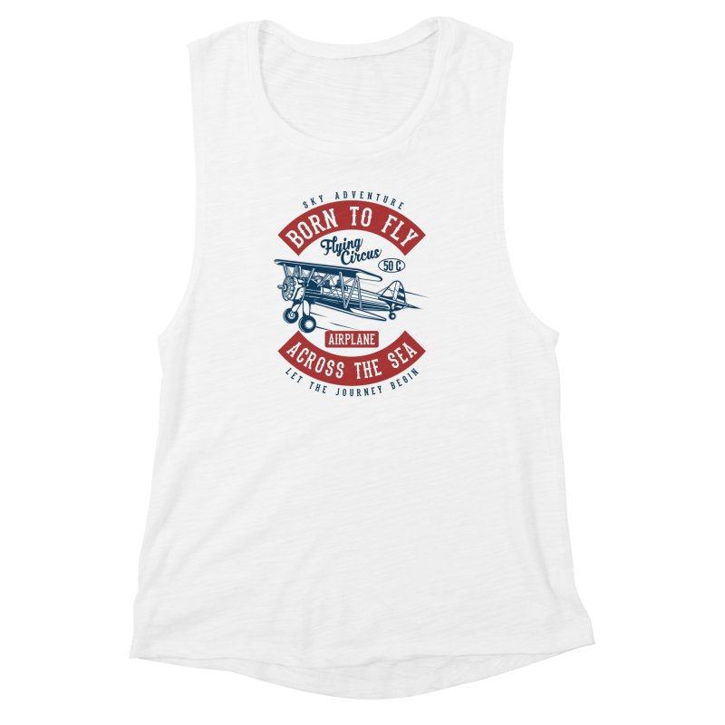 born to fly Women's Muscle Tank by Southern Creative
