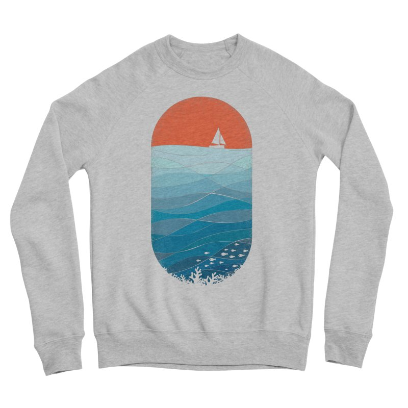 Le grand bleu (The big blue) Women's Sponge Fleece Sweatshirt by YANMOS