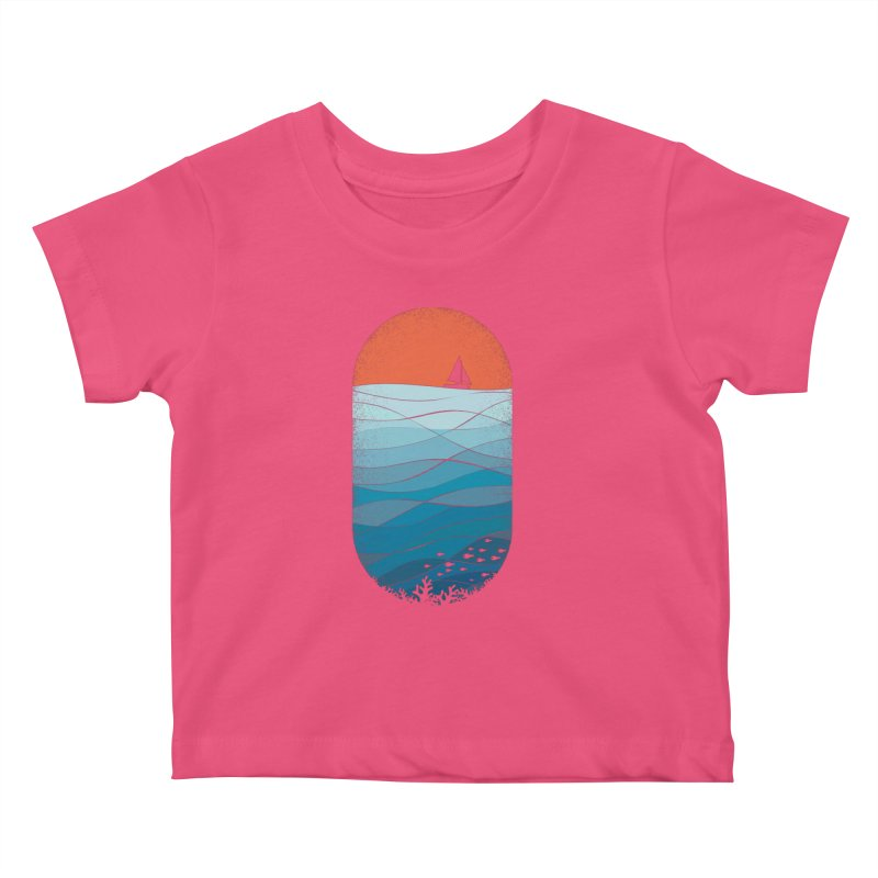 Le grand bleu (The big blue) Kids Baby T-Shirt by YANMOS