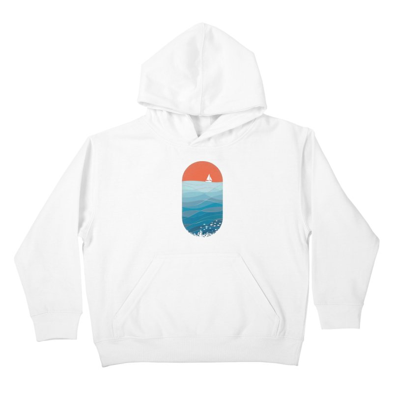 Le grand bleu (The big blue) Kids Pullover Hoody by YANMOS