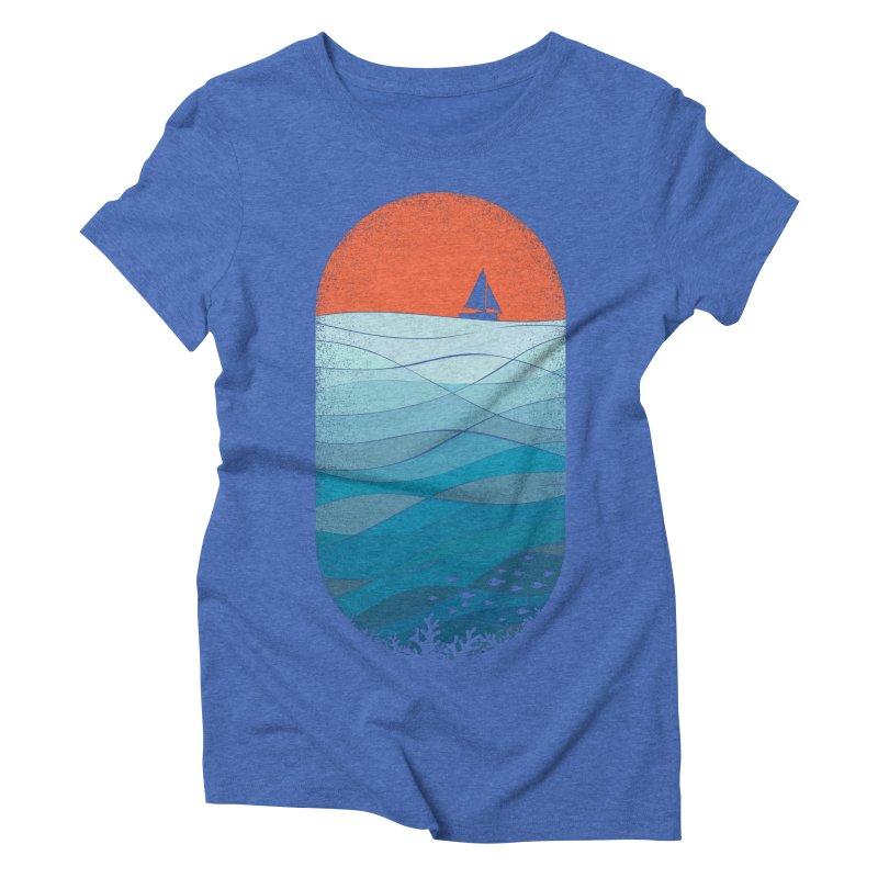 Le grand bleu (The big blue) Women's Triblend T-Shirt by YANMOS