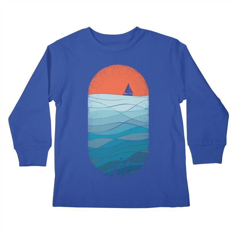 Le grand bleu (The big blue) Kids Longsleeve T-Shirt by YANMOS