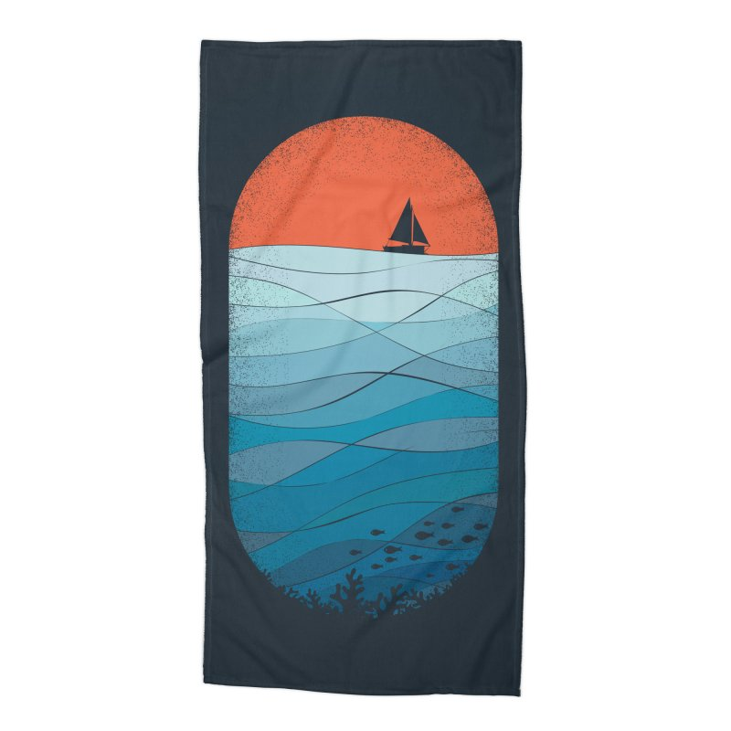 Le grand bleu (The big blue) Accessories Beach Towel by YANMOS