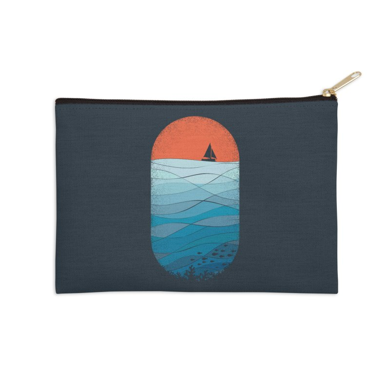 Le grand bleu (The big blue) Accessories Zip Pouch by YANMOS