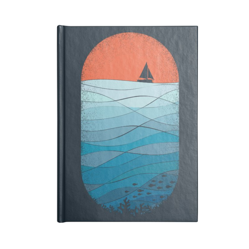 Le grand bleu (The big blue) Accessories Lined Journal Notebook by YANMOS