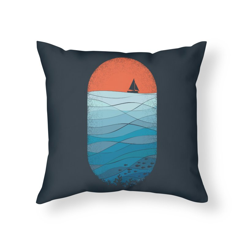 Le grand bleu (The big blue) Home Throw Pillow by YANMOS