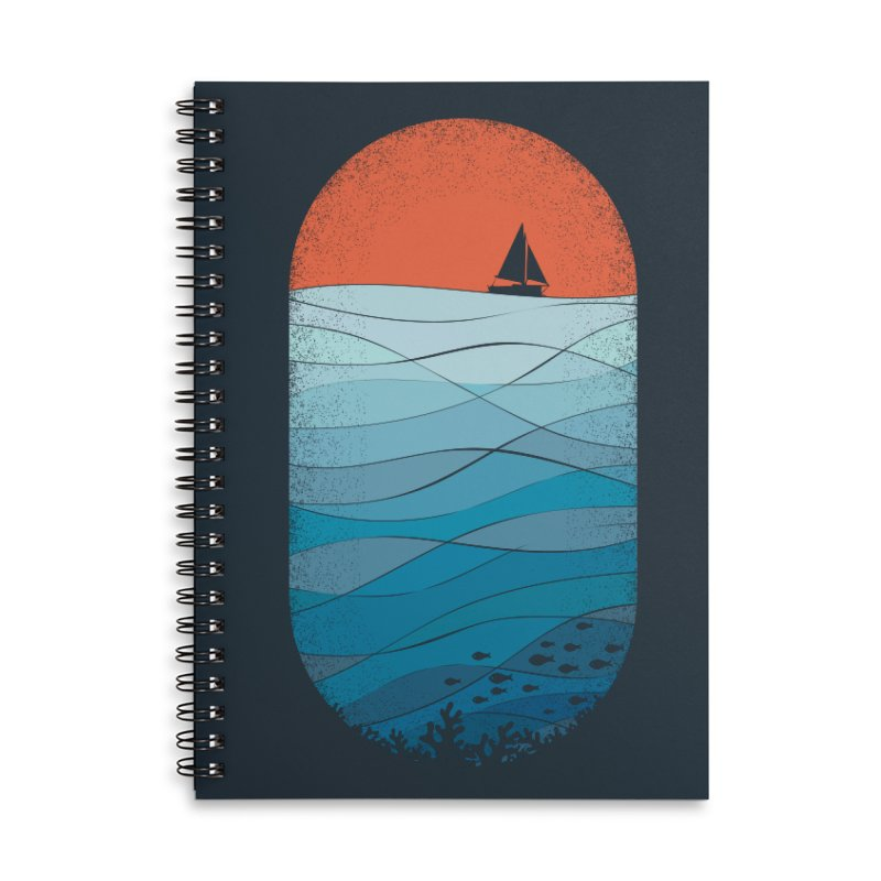 Le grand bleu (The big blue) Accessories Lined Spiral Notebook by YANMOS