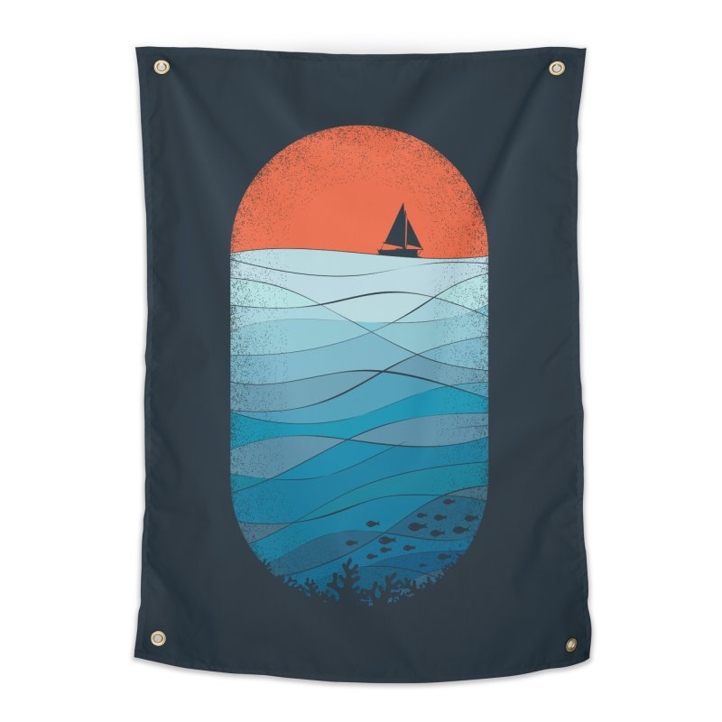 Le grand bleu (The big blue) Home Tapestry by YANMOS