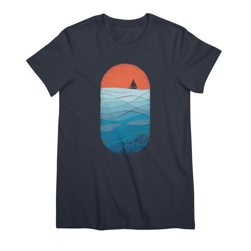 Le grand bleu (The big blue) Women's Premium T-Shirt by YANMOS