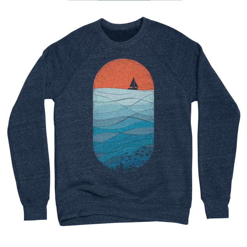 Le grand bleu (The big blue) Men's Sponge Fleece Sweatshirt by YANMOS