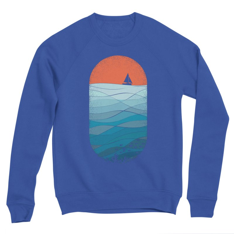Le grand bleu (The big blue) Men's Sponge Fleece Sweatshirt by YANMOS