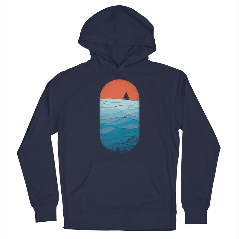 Le grand bleu (The big blue) Men's Pullover Hoody by YANMOS