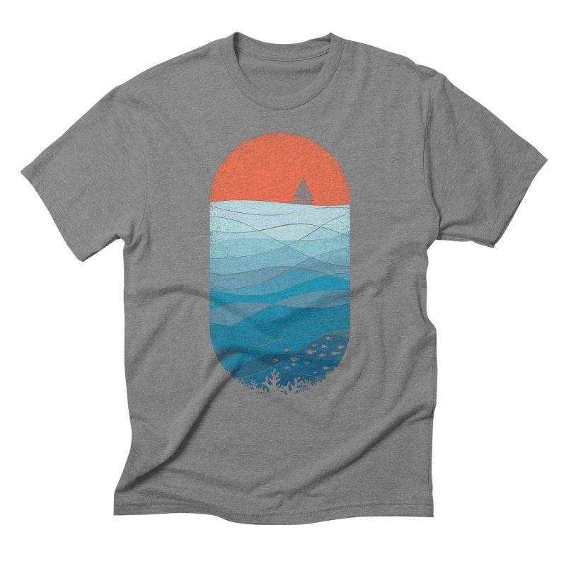 Le grand bleu (The big blue) Men's Triblend T-Shirt by YANMOS