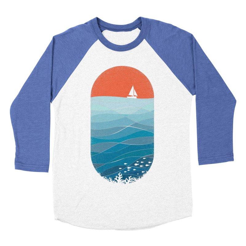 Le grand bleu (The big blue) Men's Baseball Triblend Longsleeve T-Shirt by YANMOS