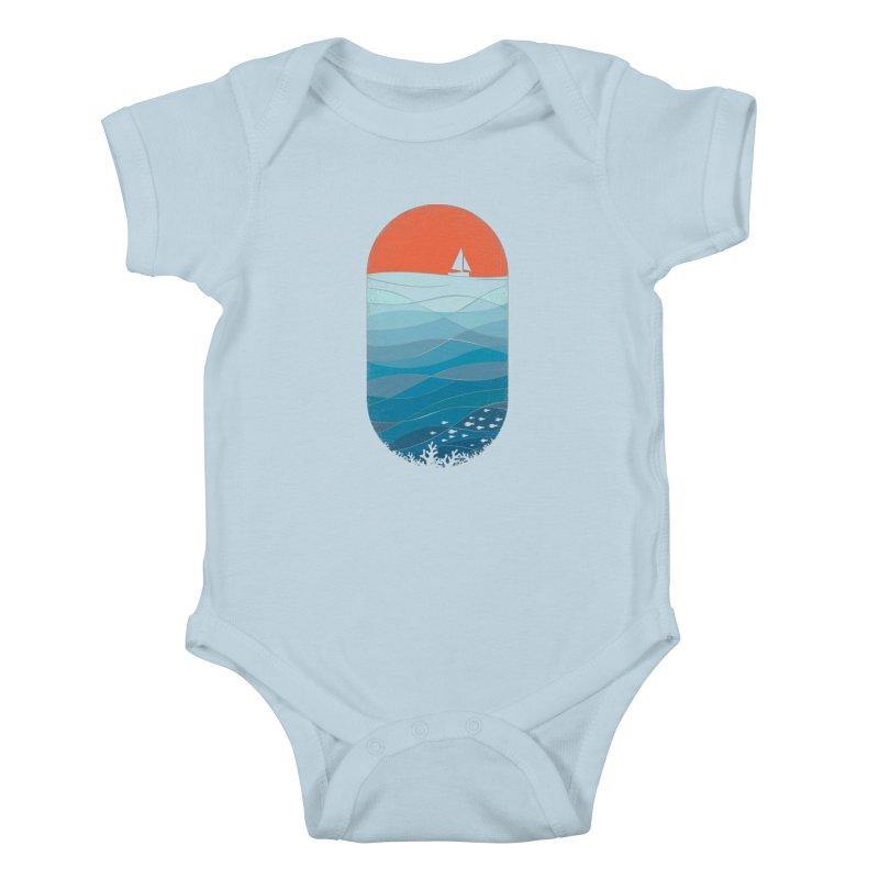 Le grand bleu (The big blue) Kids Baby Bodysuit by YANMOS