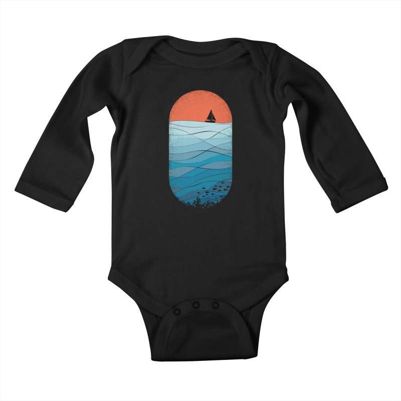 Le grand bleu (The big blue) Kids Baby Longsleeve Bodysuit by YANMOS