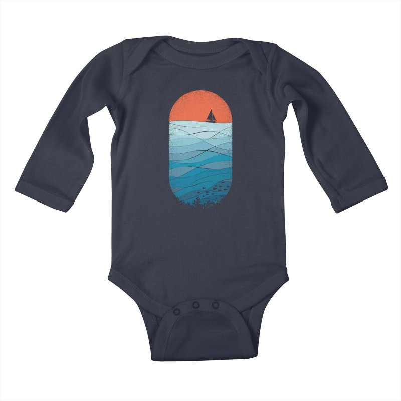 Le grand bleu (The big blue) Kids Baby Longsleeve Bodysuit by YANMOS