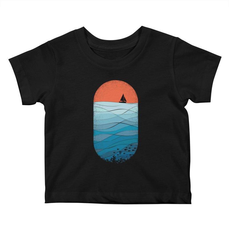 Le grand bleu (The big blue) Kids Baby T-Shirt by YANMOS