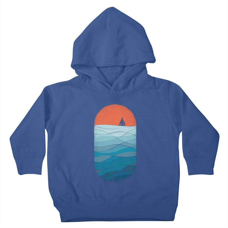 Le grand bleu (The big blue) Kids Toddler Pullover Hoody by YANMOS