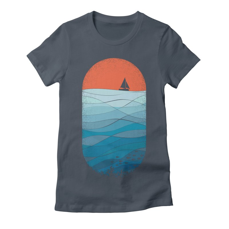 Le grand bleu (The big blue) Women's Fitted T-Shirt by YANMOS