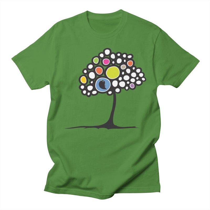 Bird on a tree Men's T-shirt by Yanmos's Artist Shop