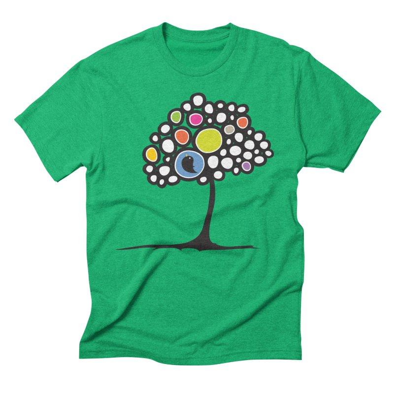 Bird on a tree Men's Triblend T-shirt by Yanmos's Artist Shop