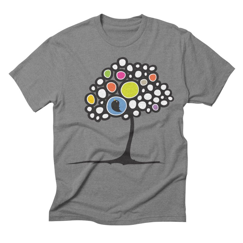 Bird on a tree Men's Triblend T-shirt by Yanmos's Artist Shop