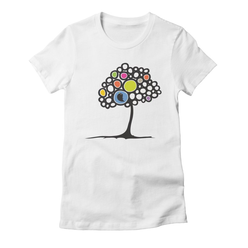 Bird on a tree Women's Fitted T-Shirt by YANMOS
