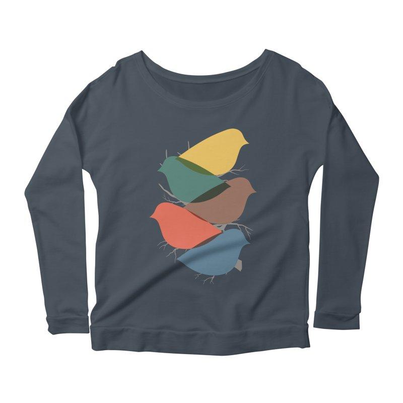 Simplify Women's Scoop Neck Longsleeve T-Shirt by YANMOS