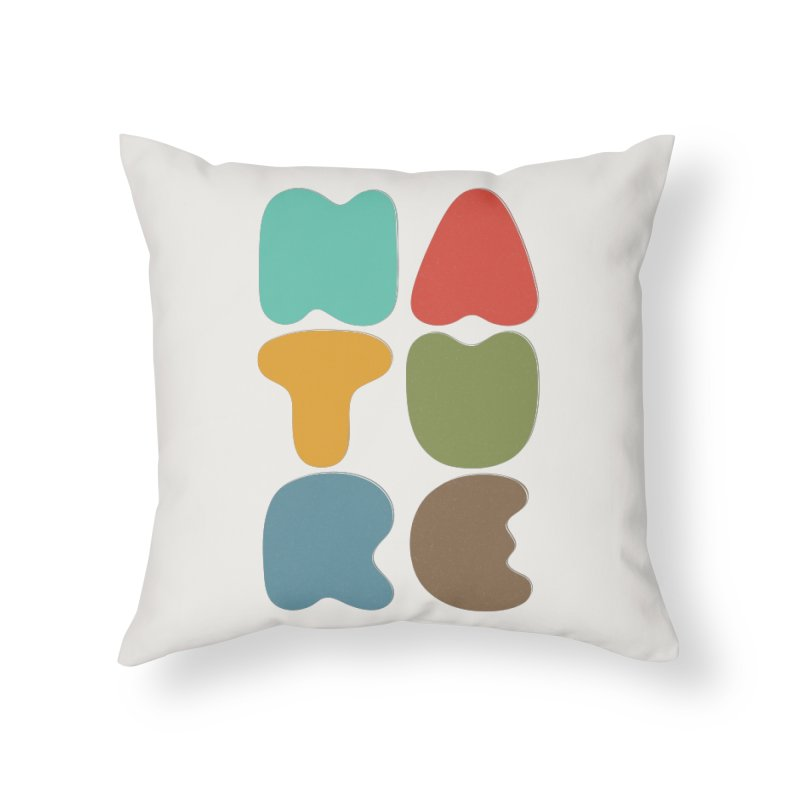 Bold nature Home Throw Pillow by YANMOS