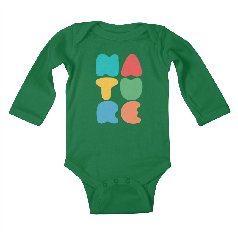 Bold nature Kids Baby Longsleeve Bodysuit by YANMOS