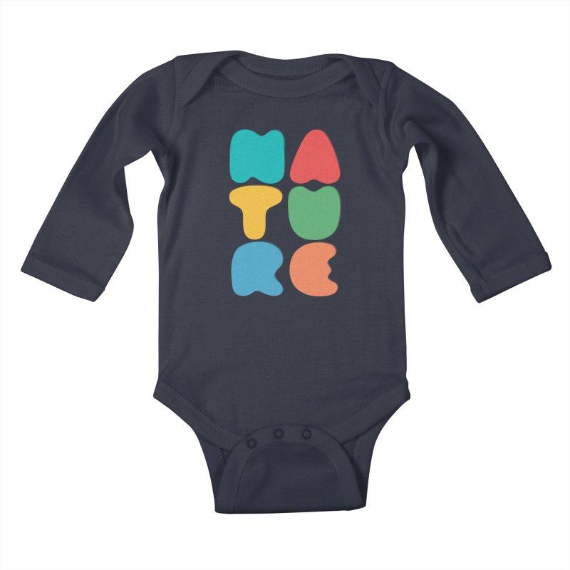 Bold nature Kids Baby Longsleeve Bodysuit by YANMOS