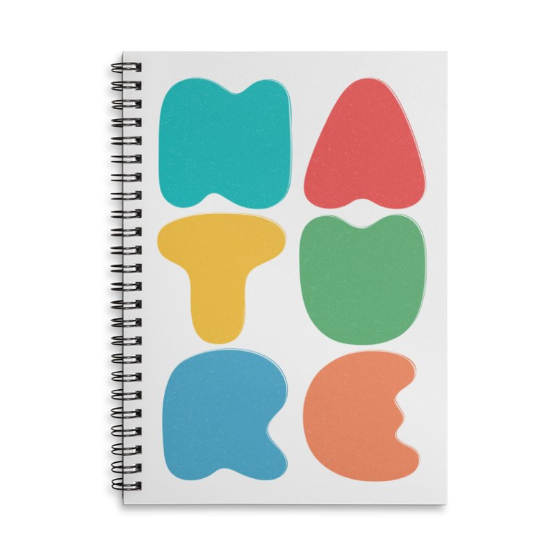 Bold nature Accessories Lined Spiral Notebook by YANMOS