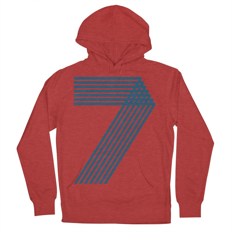 Seven stripes Men's French Terry Pullover Hoody by YANMOS
