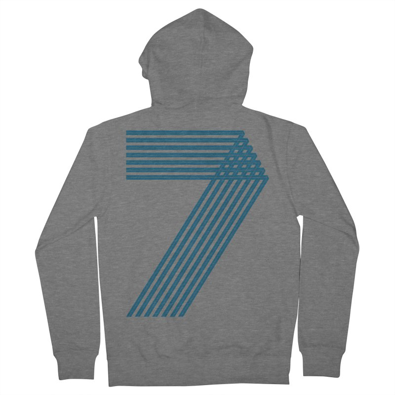Seven stripes Men's French Terry Zip-Up Hoody by YANMOS