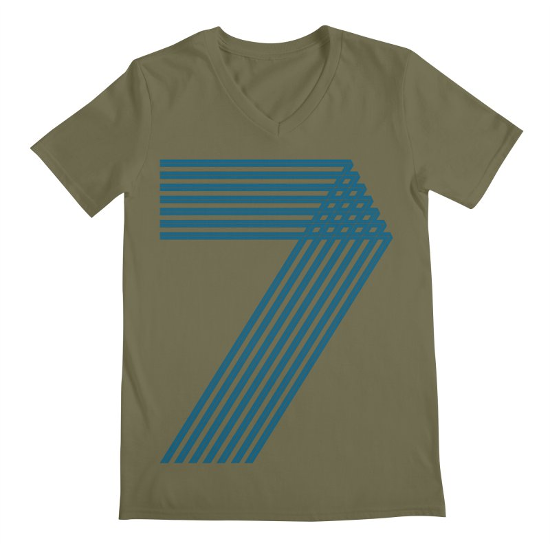 Seven stripes Men's Regular V-Neck by YANMOS
