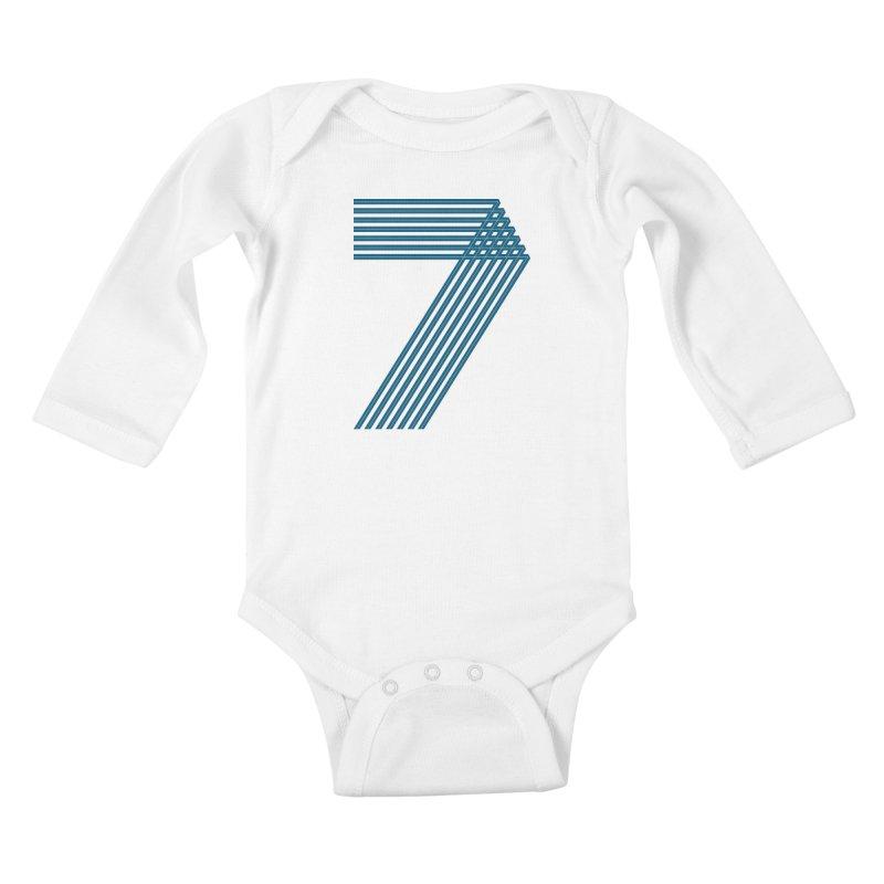 Seven stripes Kids Baby Longsleeve Bodysuit by YANMOS