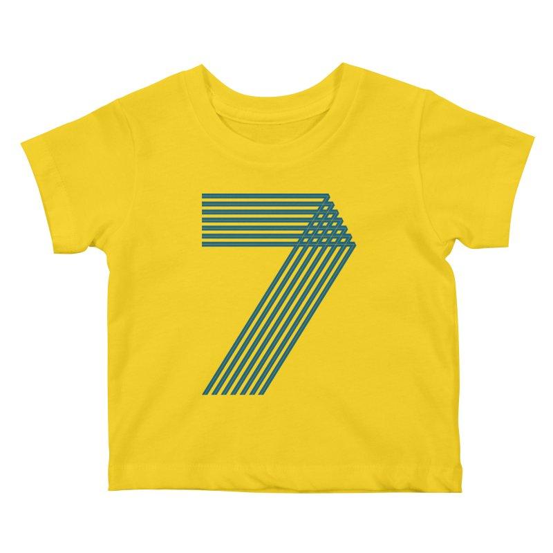 Seven stripes Kids Baby T-Shirt by YANMOS
