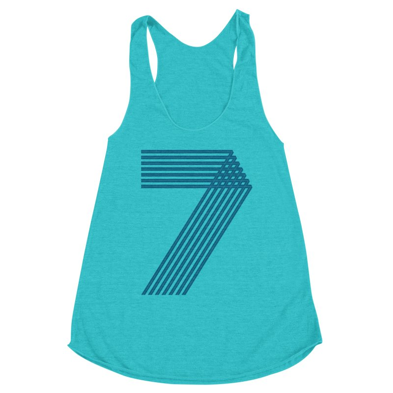 Seven stripes Women's Racerback Triblend Tank by YANMOS