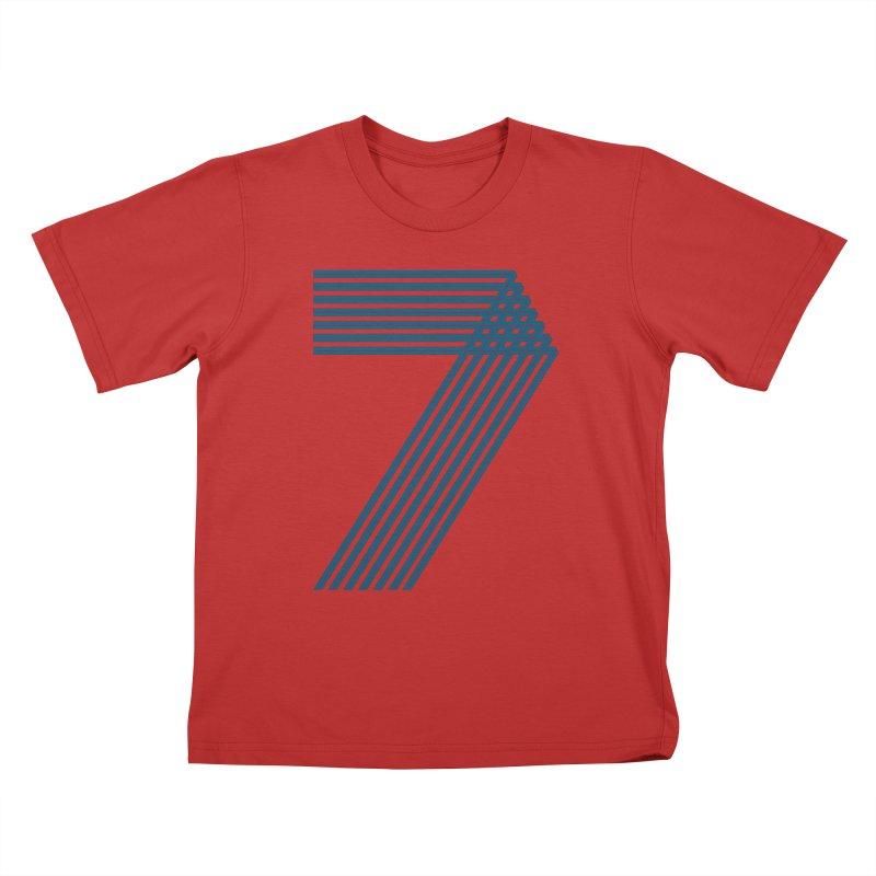 Seven stripes Kids T-Shirt by YANMOS