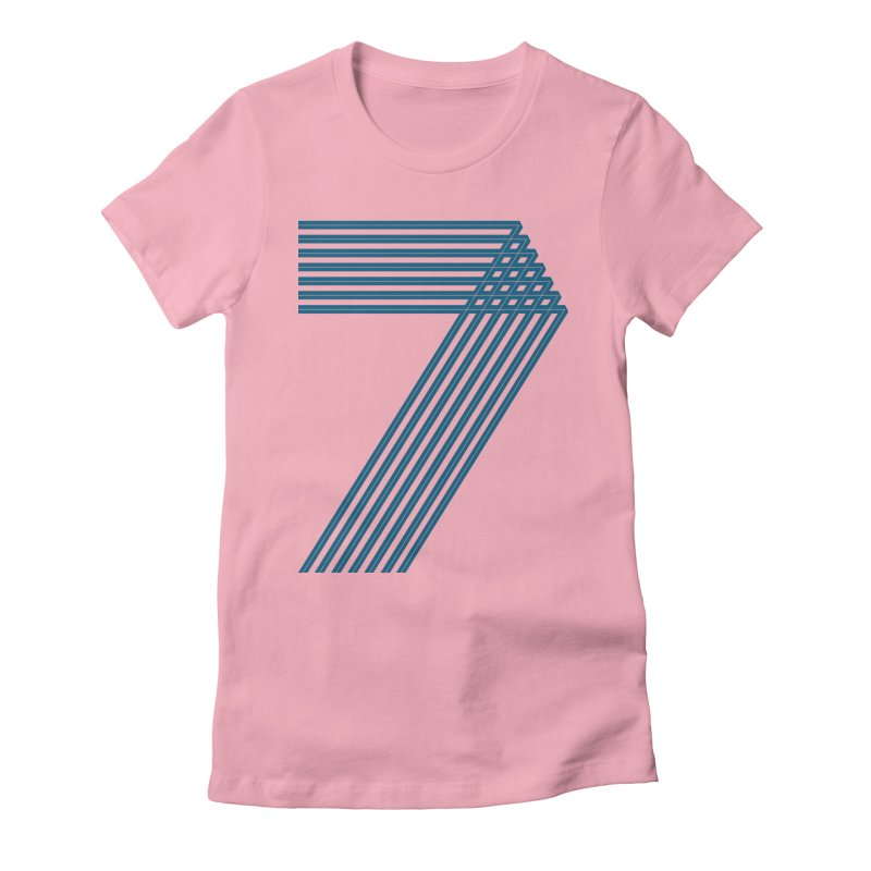 Seven stripes Women's Fitted T-Shirt by YANMOS