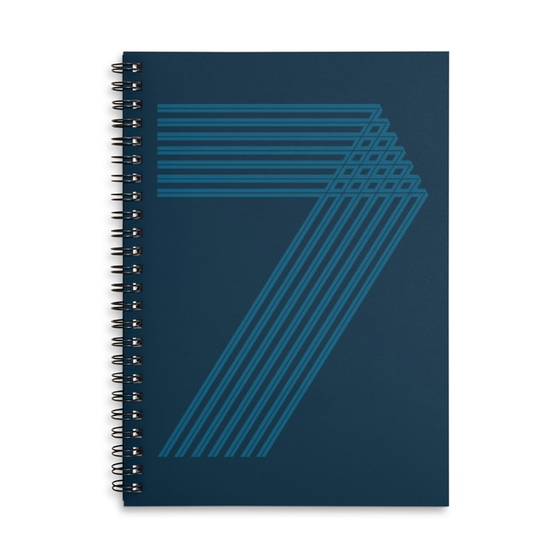 Seven stripes Accessories Lined Spiral Notebook by YANMOS