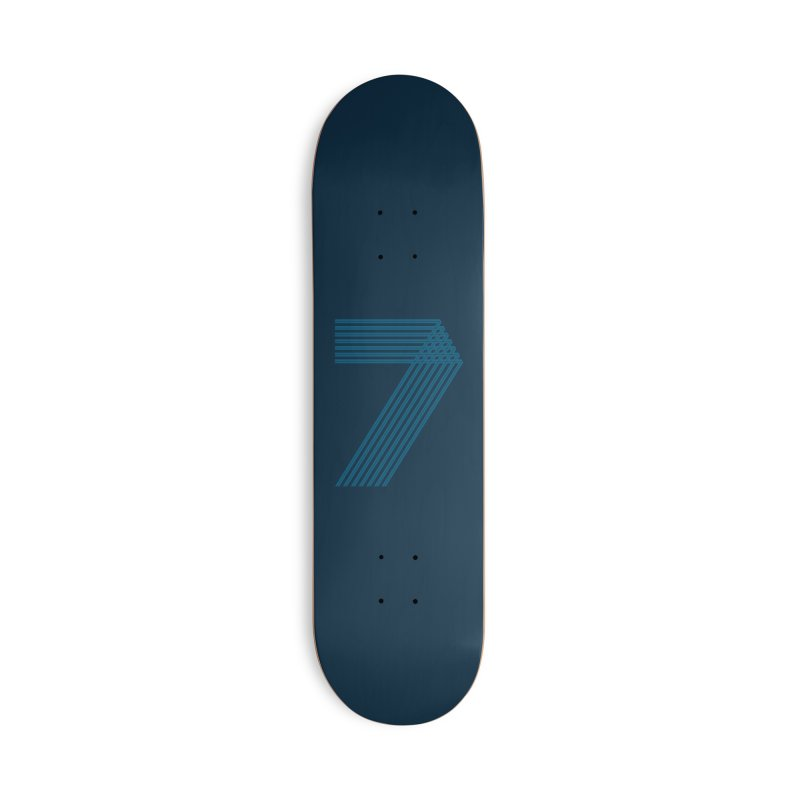 Seven stripes Accessories Deck Only Skateboard by YANMOS