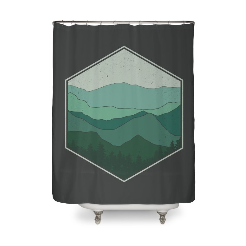 The horizon Home Shower Curtain by YANMOS
