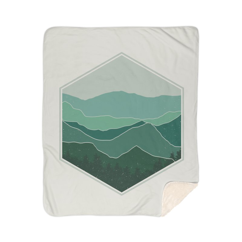 The horizon Home Sherpa Blanket Blanket by YANMOS