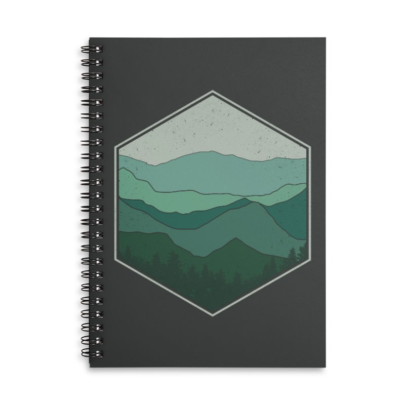 The horizon Accessories Lined Spiral Notebook by YANMOS