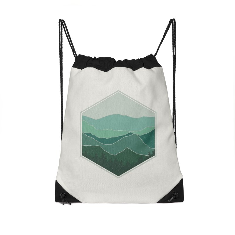 The horizon Accessories Drawstring Bag Bag by YANMOS