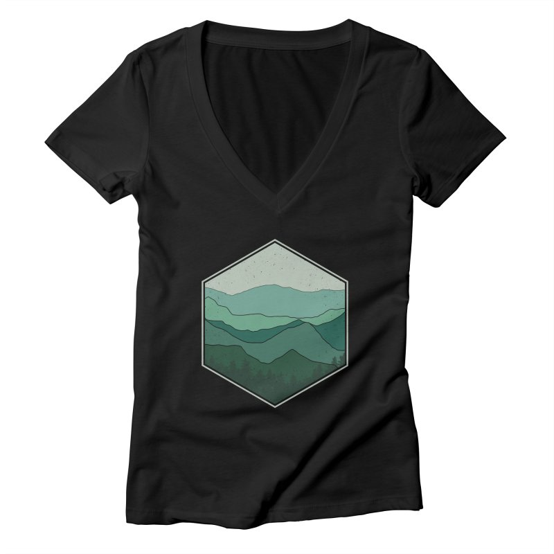 The horizon Women's V-Neck by YANMOS