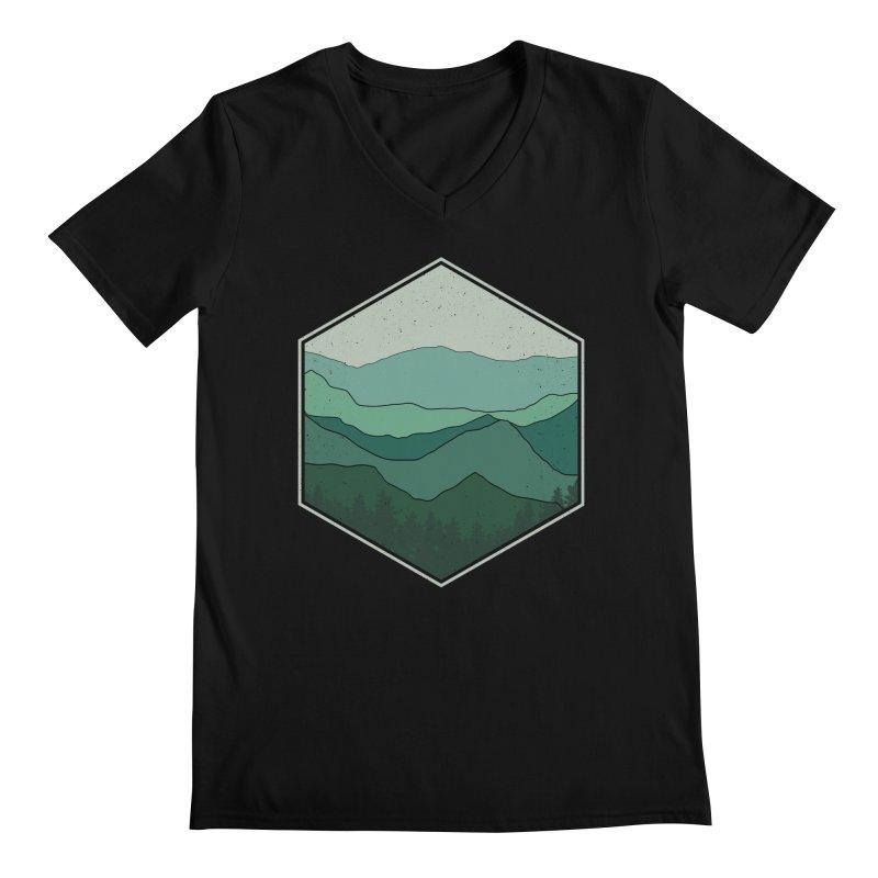 The horizon Men's Regular V-Neck by YANMOS