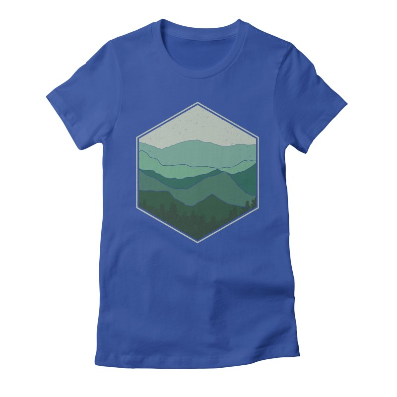 The horizon Women's Fitted T-Shirt by YANMOS